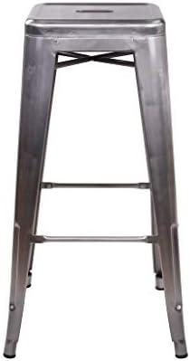 GIA 30-Inch Backless Metal Stool