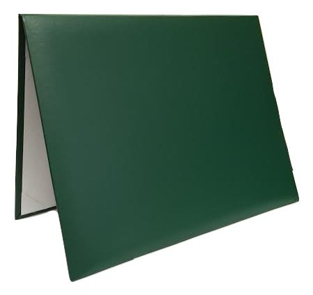 Diploma Certificate Cover - Document Holder, 8.5'' x 11'', Leatherette, Hunter Green