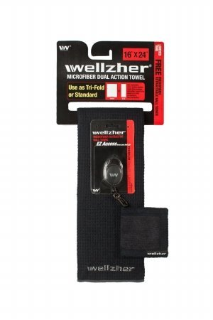 wellzher-premium-microfiber-dual-action-golf-towel-black