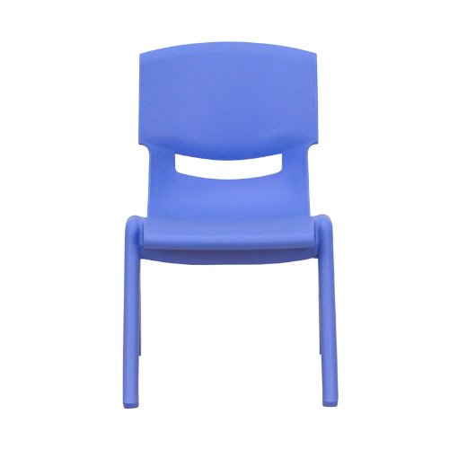 Flash Furniture Blue Plastic Stackable School Chair with 10.5'' Seat Height