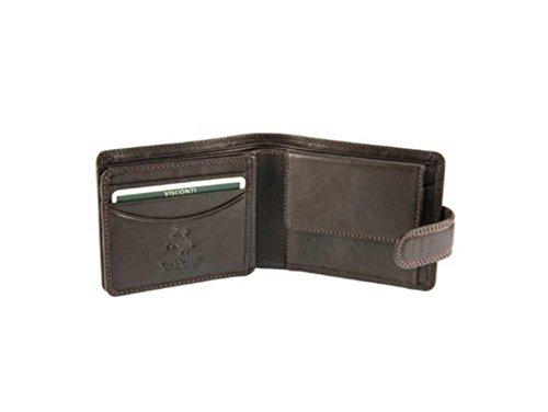 Visconti Heritage HT10- Thin Soft Visconti Leather Wallet (Brown) (Visconti Wall Street Green)