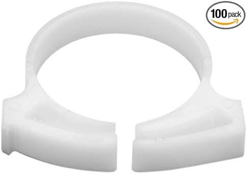 100//pkg White HellermannTyton SNP2810C2 Snapper Hose Clamps 1.107//1.266 Min//Max Diameter POM
