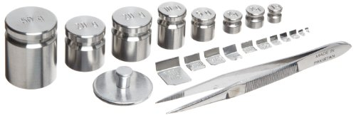 Rice Lake 12518 13 Piece Stainless Steel Calibration Metric Test Weight Set, 1kg - 1g Size, NIST Class (Nist Weight Sets)