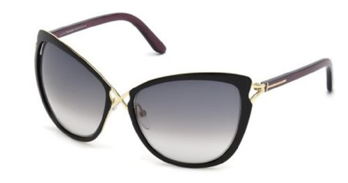 Tom Ford Celia FT0322 Sunglasses-32B Black/Purple (Gray Gradient - Ford Tom Lenses