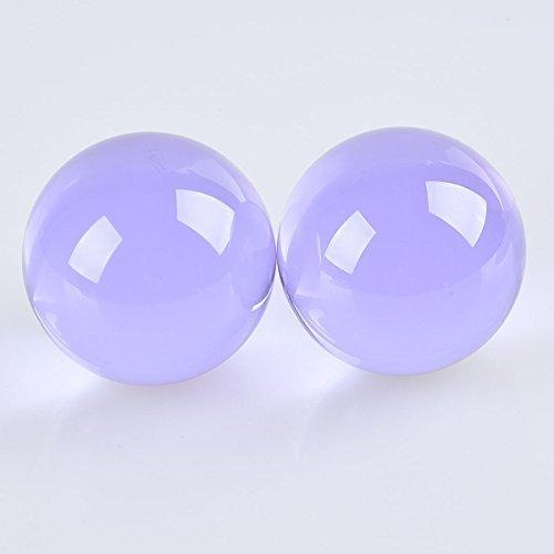 LONGWIN 60mm Crystal Fortune Teller Sphere Glass Globe Healing Balls Lavender Pack of 2