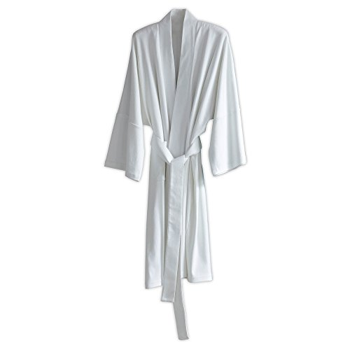- Under the Canopy Organic Cotton  Kimono Robe, One Size, White
