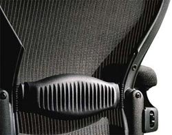 Herman Miller Classic Aeron Chair Lumbar Pad - Black - Size