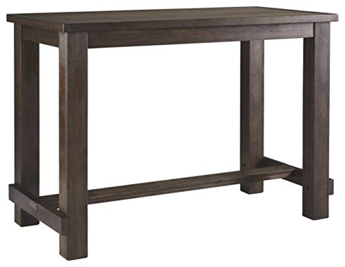 - Signature Design by Ashley D538-12 Drewing Bar Table, Brown