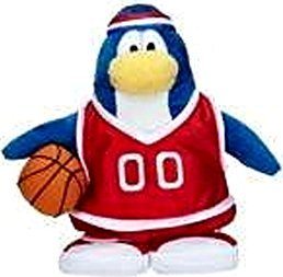 SAVE $7.00 - VALUE DEAL on RARE Club Penguin RED Team Basketball Player 6.5