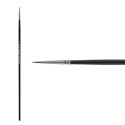 Creative Mark Black Swan Paint Brush Synthetic Red Sable Brushes for Acrylics, Oils, Glazings & Heavy Body Media - Single Brush Only - [Round - Size 0]
