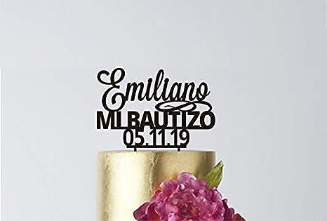 MI Bautizo - Decoración para tarta de primera comunión, centro de ...