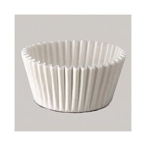 Amazon.com: White Standard Muffin Cupcake Baking Cup Fluted Cake ...