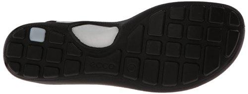 ECCO Footwear Womens Jab Toggle Gladiator Sandal, White/Black, 42 EU/11-11.5 M US