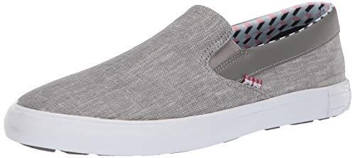 Ben Sherman Men's Pete Slip On Sneaker, Grey Chambray, 12 M US ()