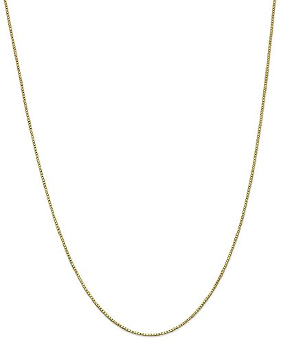 ICE CARATS 10k Yellow Gold 1mm Link Box Necklace Chain Fine Jewelry Gift Set For Women - Shop Less Luxury For Under Reviews