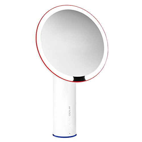 Amiro Lighted Makeup Mirror with Natural Daylight LED, Smart Motion Sensor, Adjustable Brightness, High Definition Color Rendering Index Cosmetic Mirror, White For Sale