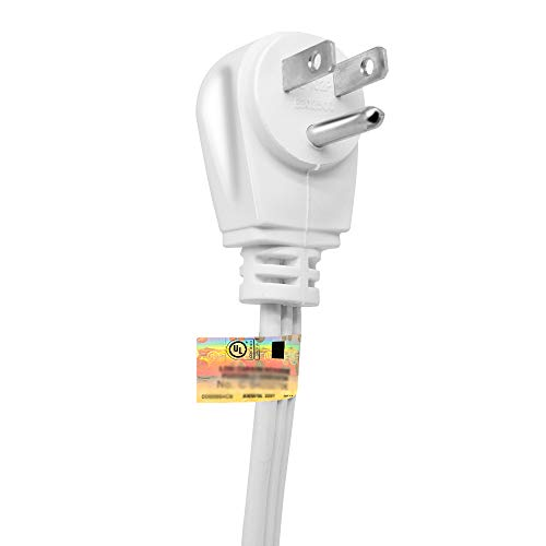 Kasonic 12-Feet 3 Outlet Extension Cord 2 Pack - Triple Wire Grounded Multi Outlet; UL Listed 16/3 SPT-3; 13 Amp - 125V - 1625 Watts (White)