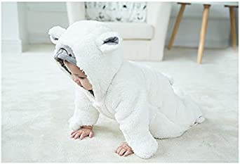 mikistory Baby Boys Girls Romper Infant Jumpsuit Unisex 3D Animal Cosplay Costume Outfit Winter Hoodie Snowsuit