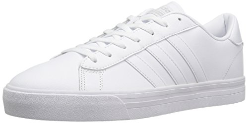 adidas Men's Cloudfoam Super Daily Sneakers, White/White/Matte Silver, (9.5 M US) by adidas