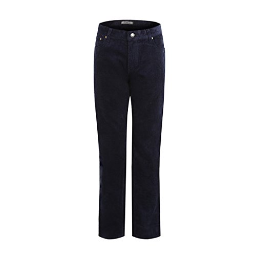 ForeMode Men's Corduroy Straight Pants Soft Plain Front Long (Plain Front Corduroy Pants)