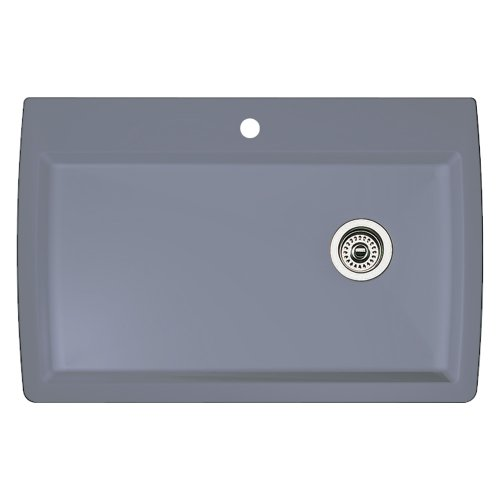 - Blanco 440193 Diamond Super Single Bowl Kitchen Sink, Metallic Gray Finish