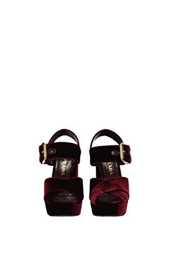 Sandali Prada Donna - Velluto (1xp873velluto1) Eu Rosso