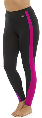 31JBMZMiE L - Ladies Tom Franks Two Tone Sport Fitness Yoga Gym Leggings Fashion MED-Pink