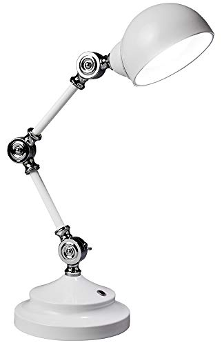 OttLite Revive LED Desk Lamp | Touch-Sensitive Control, 3 Brightness Mode, Adjustable, Reduces Eyestrain | Great for Office, Home, Table, Dorm, Bedroom, College, Nightstand, Living Room (White)