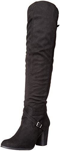 Boot madden Women's Riding girl Fabric Daallas Black qrIwrxP1