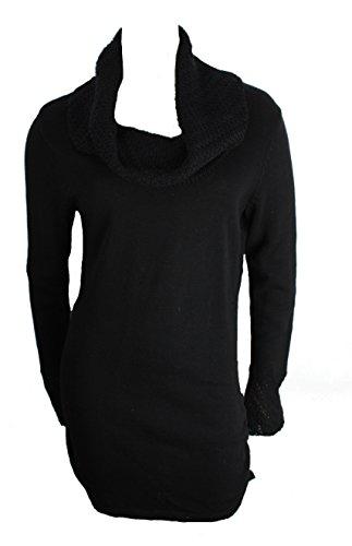 - Calvin Klein Women's Long Waisted Cowl Neck Sweater (Small, Black)