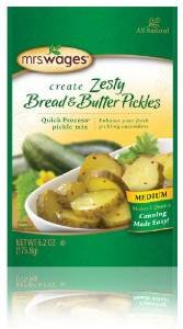 Mrs. Wages Zesty Bread & Butter Pickle Mix, 6.2 Oz (Pack of 3)