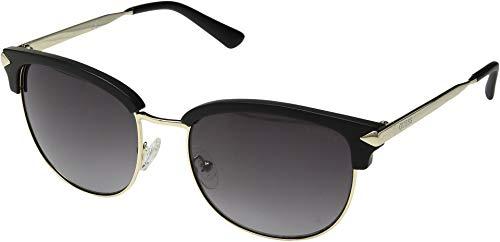 GUESS Women's Gu7482 Wayfarer Sunglasses, Matte Black & Smoke, 55 (Guess Prescription Sunglasses)