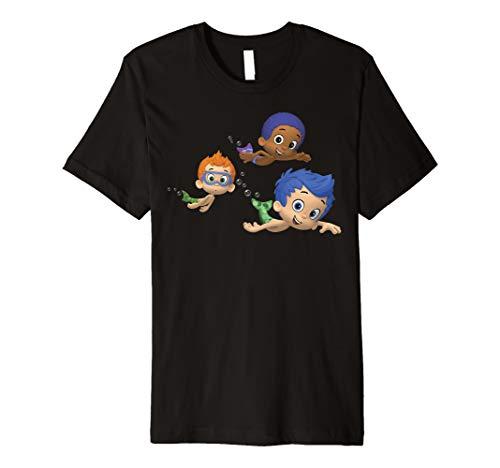 Bubble Guppies Boys Group Swimming Portrait Premium T-Shirt
