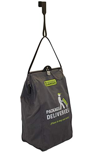(Package Guardian Anti-Theft Slashproof Bag for Home Deliveries with Steel Cables and Over the Door Hook)
