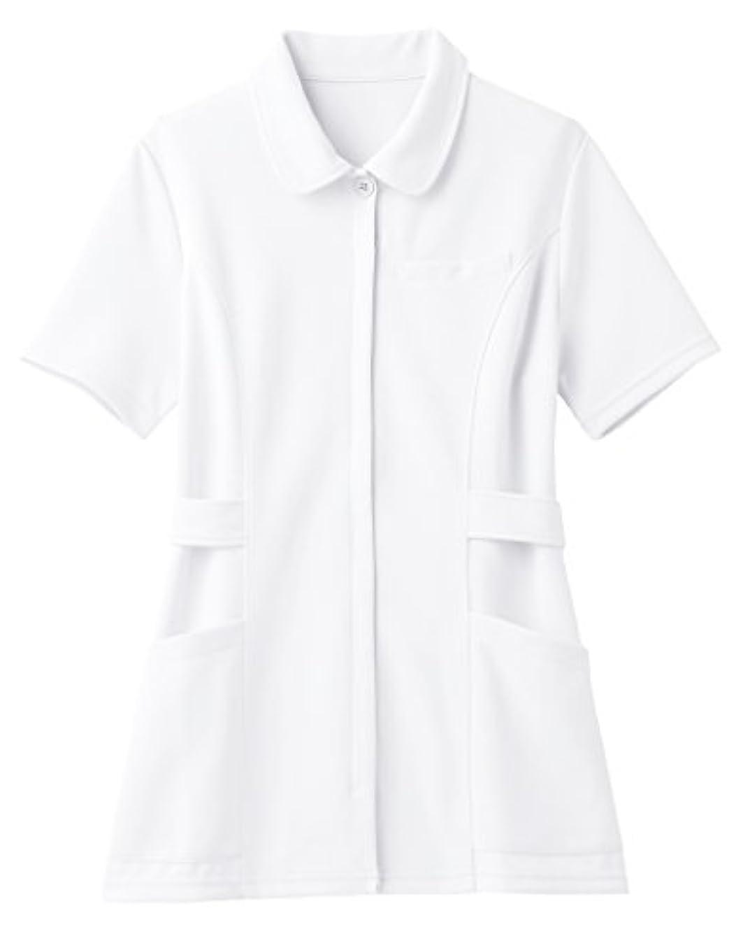 緩やかな名詞ピクニック(ララスキル)LALA SKILL 医療 白衣 スタンダードなショールカラーのナース服 [制菌/吸汗速乾] F-9005