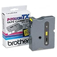 Genuine Brother 1 (24mm) Black on Yellow TX P-touch Tape for Brother XL-30, XL30 Label Maker