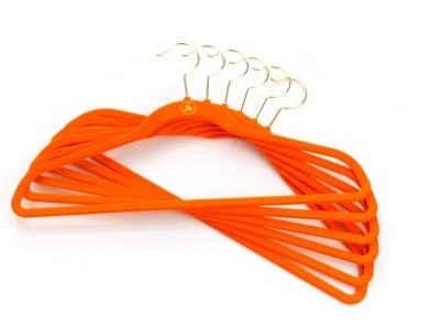 Joy Mangano Huggable Suit Hangers - Set of 12 + ONE FREE Color: Orange
