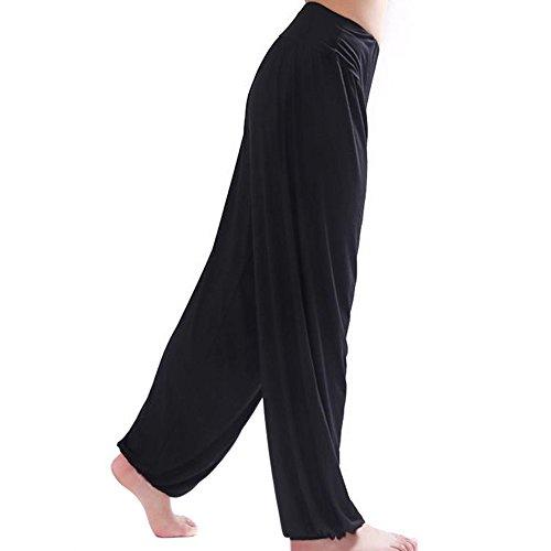 wlgreatsp Donne Nero Allenamento Leggings Opaco Yoga Fitness Palestra Ampia Leg Palazzo Pantaloni lunghi allentati Panta