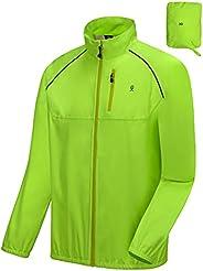 Little Donkey Andy Men's Waterproof Cycling Bike Jacket, Running Golf Rain Jacket, Windbreaker, Ultralight
