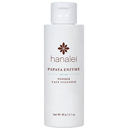 Powder Face Cleanser by Hanalei (Cruelty free, Paraben free) (Papaya 60g) (Exfoliating Papaya)