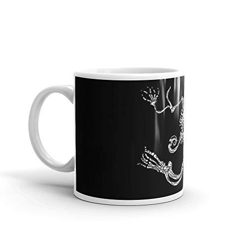 Skelly Art Print 11 Oz White Ceramic.11 Oz Fine Ceramic Mug With Flawless Glaze -