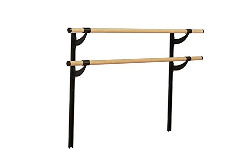 Vita Vibe Ballet Barre - WD72-A-W Traditional Wood 6ft. Double Adjustable Height Wall Mount Ballet Bar - Stretch/Dance Bar - Vita Vibe - USA Made