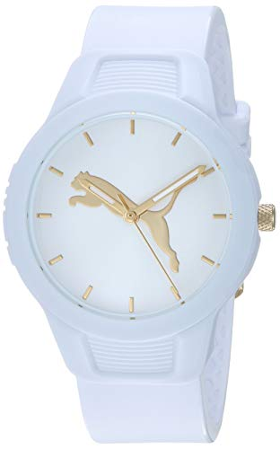 PUMA Women's Reset Quartz Watch with Polyurethane Strap, White, 18 (Model: P1013) (Watches Puma Man)