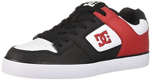 DC Men's Pure Skate Shoe Athletic red/Black, 10 M US