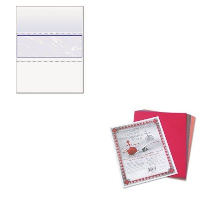 Middle Business Check - KITPAC103637PRB04509 - Value Kit - Paris Business Products DocuGard Standard Security Marble Business Middle Check (PRB04509) and Pacon Riverside Construction Paper (PAC103637)