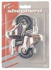 - Shepherd Hardware 9347 1-5/8-Inch Medium Duty Stem Caster, 2-Pack