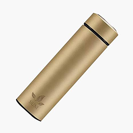 450 ml Gold Borraccia Termica in Acciaio Inox da Viaggio con colino per Il t/è SUM