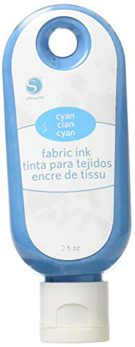 - Silhouette of America Fabric Ink, 2 oz, Cyan