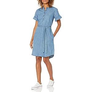 Best Epic Trends 31JBbVxoJdL._SS300_ Amazon Brand - Goodthreads Women's Denim Flutter-Sleeve Dress