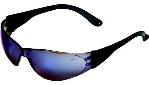 Crews Checklite Safety Glasses - Blue Mirror Lens/Grey Templ